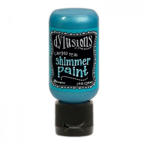 Ranger • Dylusions shimmer paint Calypso teal