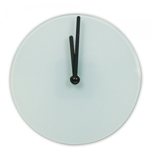 Glazen ronde klok 18 cm