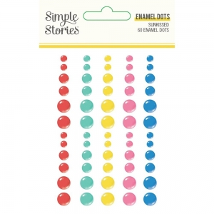 Simple Stories Sunkissed Enamel Dots