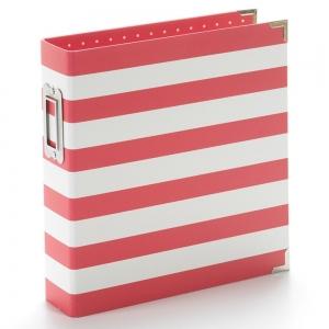 Simple Stories SN@P! Designer Binder 6x8 Inch Red Stripe