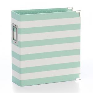Simple Stories SN@P! Designer Binder 6x8 Inch Robin's Egg Stripe