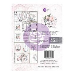 Prima Marketing Poetic Rose 3x4 Journaling Cards