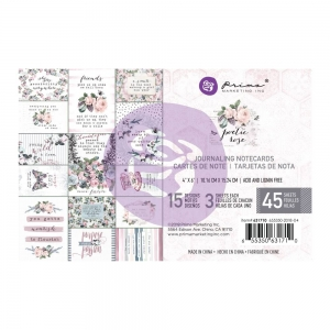 Prima Marketing Poetic Rose 4x6 Journal Cards