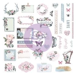 Prima Marketing Poetic Rose Ephemera & Stickers