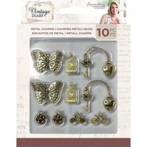Crafter's Companion Vintage Diary Metal Charms 10 pcs