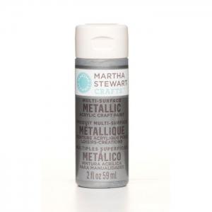 Martha Stewart • Verf 59ml metallic Titanium