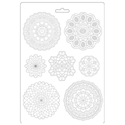 Stamperia Soft Mould A4 Passion Round Lace