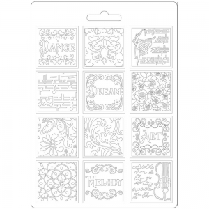 Stamperia Soft Mould A5 Passion Patchwork Music