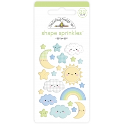 Doodlebug Design Nighty Night Shape Sprinkles (22pcs) (6761) (842715067615)
