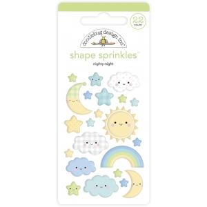Doodlebug Design Nighty Night Shape Sprinkles (22pcs) (6761)