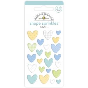 Doodlebug Design Baby Love Shape Sprinkles (23pcs) (6762)
