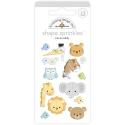 Doodlebug Design Cute & Cuddly Shape Sprinkles (14pcs) (6763) (842715068612)