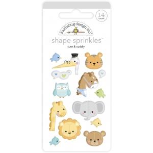 Doodlebug Design Cute & Cuddly Shape Sprinkles (14pcs) (6763)