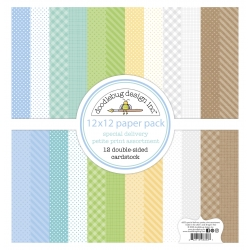 Doodlebug Design Special Delivery 12x12 Inch Petite Print Paper Pack (842715068537)