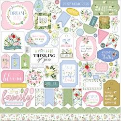 Carta Bella Flora No.4 12x12 Inch Element Sticker