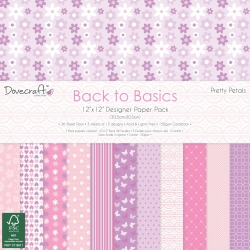 Dovecraft Back to Basics Pretty Petals 12x12 Inch Paper Pack