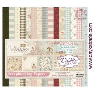 DayKa Trade Vintage 12x12 Inch Paper Pack