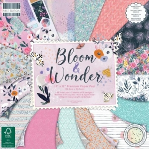 First Edition Bloom and Wonder 12x12 Inch Paper Pad