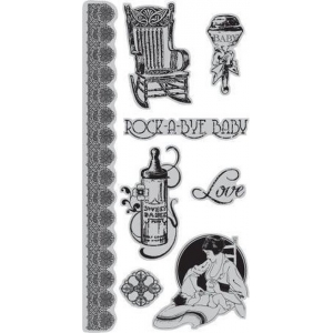 Graphic45 Little Darlings - Cling Stamp 3