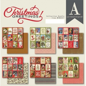 Authentique Christmas Greetings 6x6 Inch Paper Pad