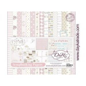 Dayka Bebe Niña 12x12 Inch Paper Pack