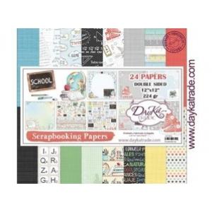 Dayka School 12x12 Inch Paper Pack