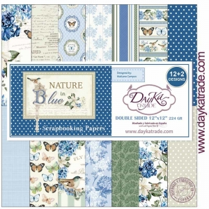 DayKa Trade Nature in Blue 12x12 Inch Paper Pack