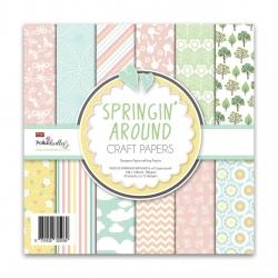 Polkadoodles Springin' Around 6x6 Inch Paper Pack
