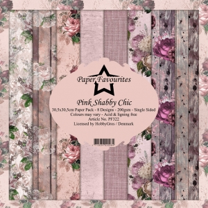 Paper Favourites Pink Shabby Chic 12x12 Inch Paper Pack