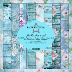 Paper Favourites Shabby Chic Wood 12x12 Inch Paper Pack