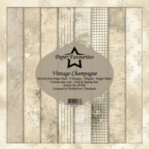 Paper Favourites Vintage Champagne 12x12 Inch Paper Pack