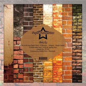 Paper Favourites Bricks 12x12 Inch Paper Pack