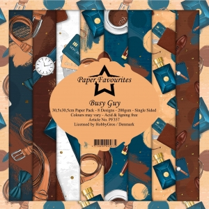 Paper Favourites Busy Guy 12x12 Inch Paper Pack