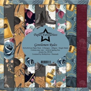 Paper Favourites Gentlemen Rules 12x12 Inch Paper Pack