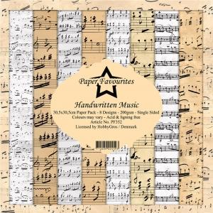 Paper Favourites Handwritten Music 12x12 Inch Paper Pack