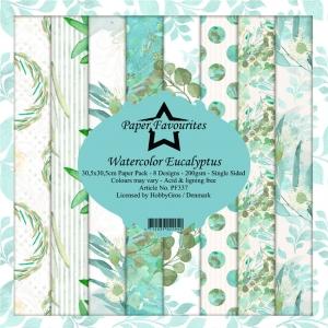 Paper Favourites Watercolor Eucalyptus 12x12 Inch Paper Pack
