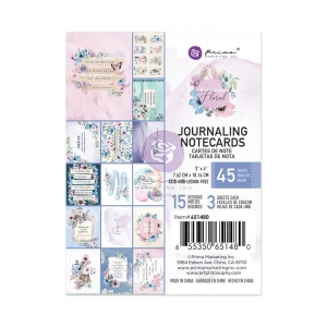 Prima Marketing Watercolor Floral 3x4 Inch Journaling Cards