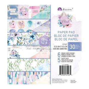 Prima Marketing Watercolor Floral 6x6 Inch Paper Pad