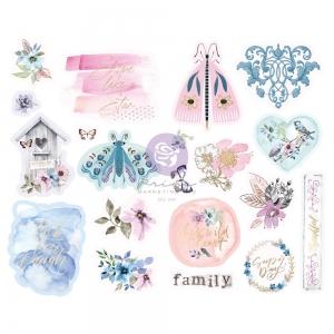 Prima Marketing Watercolor Floral Chipboard Stickers