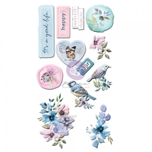 Prima Marketing Watercolor Floral Puffy Stickers