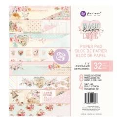 Prima Marketing Magic Love 8x8 Inch Paper Pad