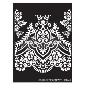 Re-Design with Prima Elegant Lace 9x13.5 Inch Decor Stencils