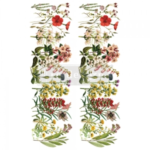 Re-Design with Prima The Flower Fields 24x35 Inch Decor Transfers
