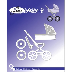 By Lene Baby Carriage Cutting & Embossing Dies