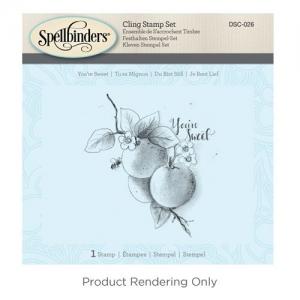 Spellbinders You're Sweet 3D Cling Stamp Set