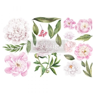 Re-Design with Prima Morning Peonies 6x12 Inch Decor Transfers