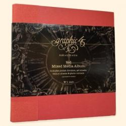 Graphic 45 Mixed Media Album Red (4501790)