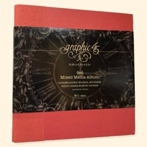 Graphic 45 Mixed Media Album Red