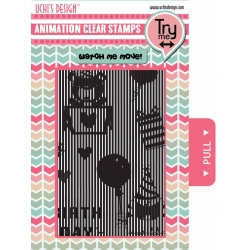 Uchi's Design Animation Clear Stamp Happy Birthday