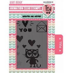 Uchi's Design Animation Clear Stamp Loving Cat